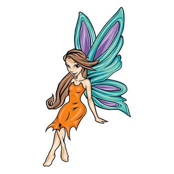 Mythical Cartoon Fairy Design Water Transfer Temporary Tattoo(fake Tattoo) Stickers NO.11915