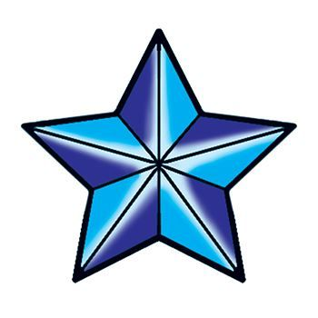 Nautical Star Design Water Transfer Temporary Tattoo(fake Tattoo) Stickers NO.13248