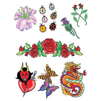 Night Out Set ofs Design Water Transfer Temporary Tattoo(fake Tattoo) Stickers NO.13759