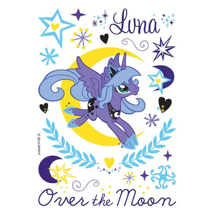 Over the Moon Luna Design Water Transfer Temporary Tattoo(fake Tattoo) Stickers NO.13561