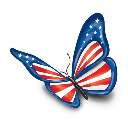 Patriotic Butterfly Design Water Transfer Temporary Tattoo(fake Tattoo) Stickers NO.12048