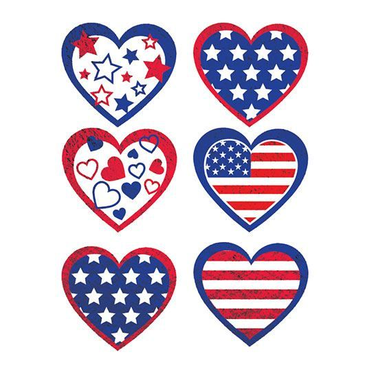 Patriotic Metallics Design Water Transfer Temporary Tattoo(fake Tattoo) Stickers NO.12043