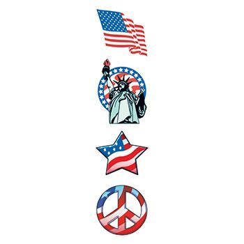 Patriotic Holiday Party Design Water Transfer Temporary Tattoo(fake Tattoo) Stickers NO.12035