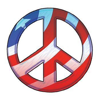 Patriotic Peace Symbol Design Water Transfer Temporary Tattoo(fake Tattoo) Stickers NO.12038