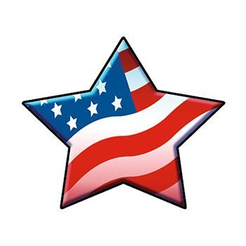 Patriotic Star Design Water Transfer Temporary Tattoo(fake Tattoo) Stickers NO.12041