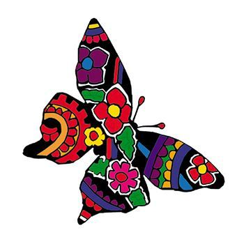 Patterned Butterfly Design Water Transfer Temporary Tattoo(fake Tattoo) Stickers NO.13765