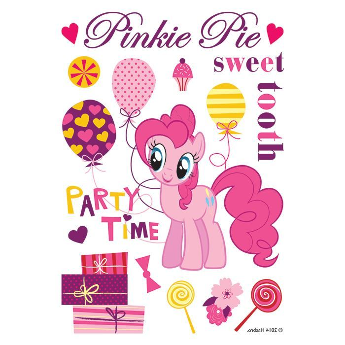 PinkiePie Sweet Party Time Design Water Transfer Temporary Tattoo(fake Tattoo) Stickers NO.14062