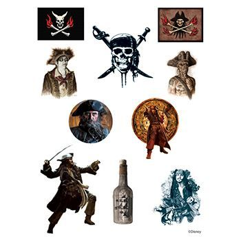 Pirates of the Caribbean Assortment ofs Design Water Transfer Temporary Tattoo(fake Tattoo) Stickers NO.14135