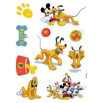 Pluto Assortment ofs Design Water Transfer Temporary Tattoo(fake Tattoo) Stickers NO.13981
