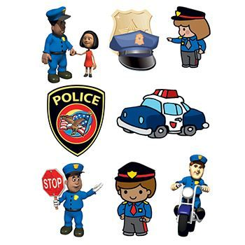 Police Safety Set ofs Design Water Transfer Temporary Tattoo(fake Tattoo) Stickers NO.13889
