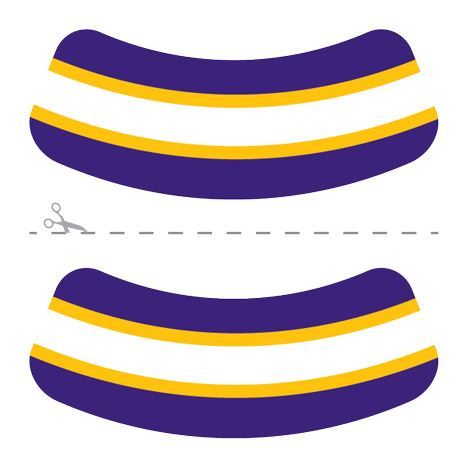 Purple, Yellow & White Eye Blacks Design Water Transfer Temporary Tattoo(fake Tattoo) Stickers NO.14620