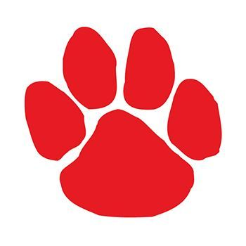 Red Paw Print Design Water Transfer Temporary Tattoo(fake Tattoo) Stickers NO.13064
