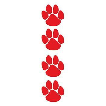 Red Paw Prints Design Water Transfer Temporary Tattoo(fake Tattoo) Stickers NO.13067