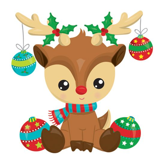 Reindeer with Ornaments Design Water Transfer Temporary Tattoo(fake Tattoo) Stickers NO.12873