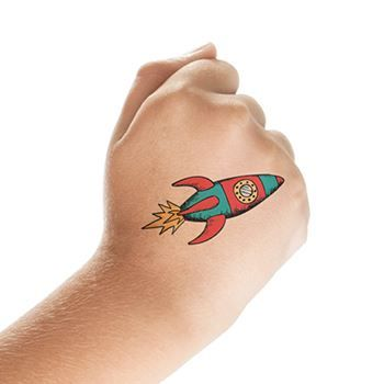 Rocketship Design Water Transfer Temporary Tattoo(fake Tattoo) Stickers NO.13891