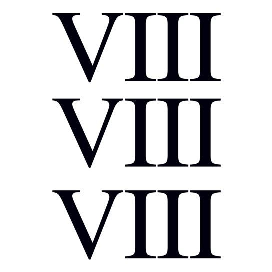 Roman Numeral Eight Design Water Transfer Temporary Tattoo(fake Tattoo) Stickers NO.14683