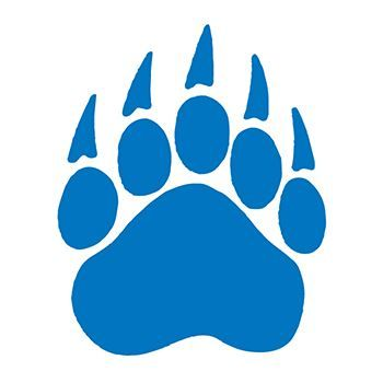 Royal Blue Claw Paw Design Water Transfer Temporary Tattoo(fake Tattoo) Stickers NO.14864