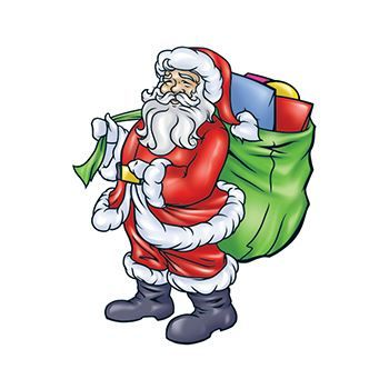 Santa with Gift Bag Design Water Transfer Temporary Tattoo(fake Tattoo) Stickers NO.12906