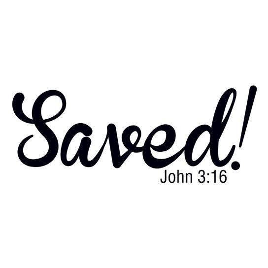 Saved! John 3:16 Design Water Transfer Temporary Tattoo(fake Tattoo) Stickers NO.12938