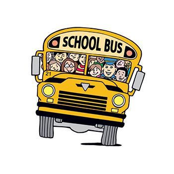 School Bus with Kids Design Water Transfer Temporary Tattoo(fake Tattoo) Stickers NO.13096