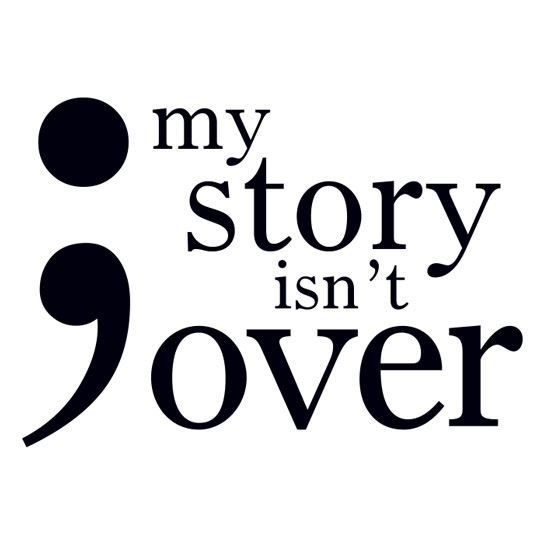 Semicolon: My Story Isn't Over Design Water Transfer Temporary Tattoo(fake Tattoo) Stickers NO.14479