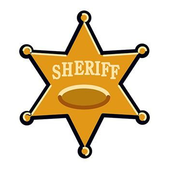 Sheriff Star Design Water Transfer Temporary Tattoo(fake Tattoo) Stickers NO.13894