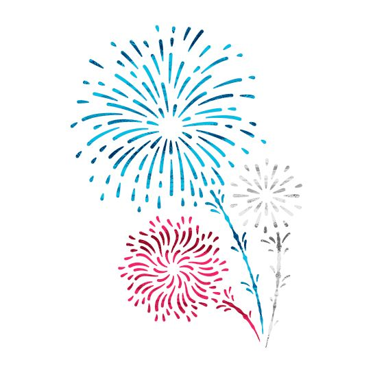 Shooting Fireworks (Small) Design Water Transfer Temporary Tattoo(fake Tattoo) Stickers NO.14106