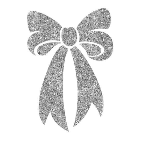 Silver Sugar Bow Design Water Transfer Temporary Tattoo(fake Tattoo) Stickers NO.14482