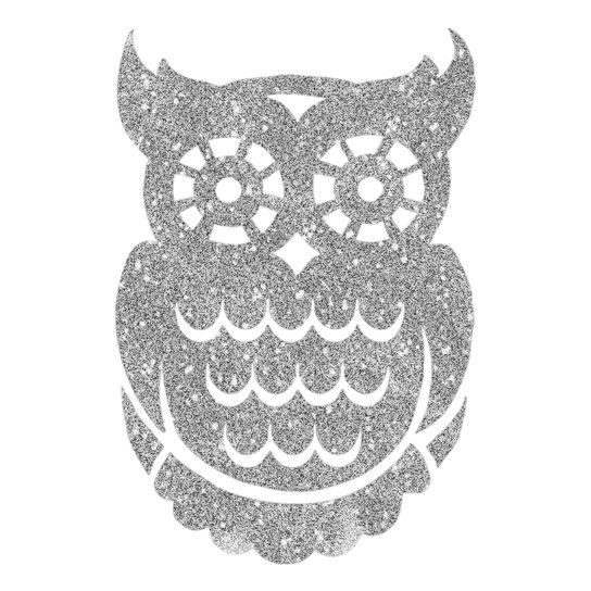 Silver Sugar Owl Design Water Transfer Temporary Tattoo(fake Tattoo) Stickers NO.14487