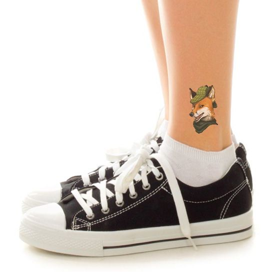 Sleuthing Fox Design Water Transfer Temporary Tattoo(fake Tattoo) Stickers NO.13702