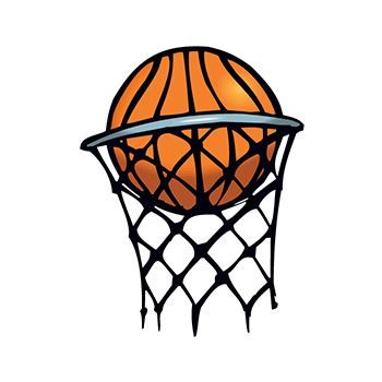 Small Basketball in Hoop Design Water Transfer Temporary Tattoo(fake Tattoo) Stickers NO.15153