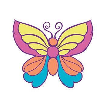 Small Butterfly Design Water Transfer Temporary Tattoo(fake Tattoo) Stickers NO.13580