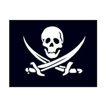 Small Pirate Flag Design Water Transfer Temporary Tattoo(fake Tattoo) Stickers NO.12767