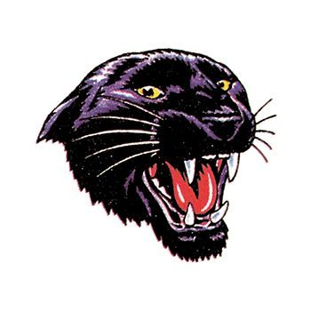 Snarling Black Panther Design Water Transfer Temporary Tattoo(fake Tattoo) Stickers NO.15163