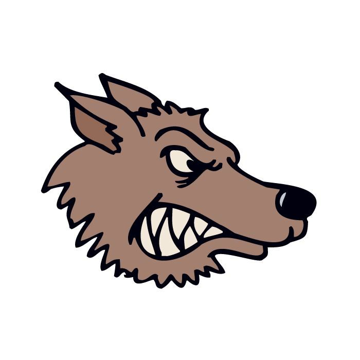 Snarling Wolf Design Water Transfer Temporary Tattoo(fake Tattoo) Stickers NO.14962