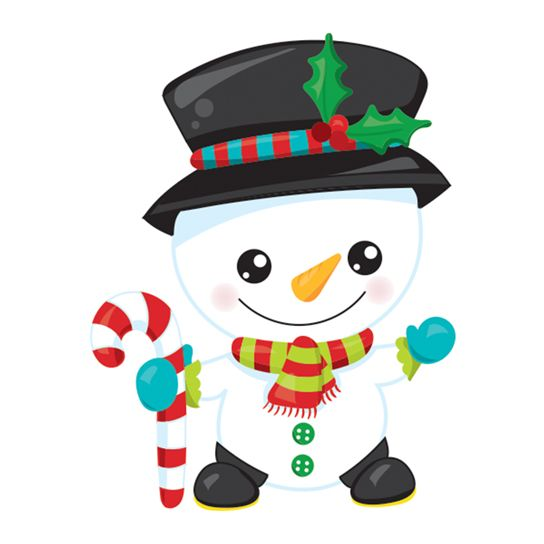 Snowman with Candy Cane Design Water Transfer Temporary Tattoo(fake Tattoo) Stickers NO.12870