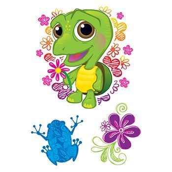 Snuggle Buddies Turtle Design Water Transfer Temporary Tattoo(fake Tattoo) Stickers NO.13601