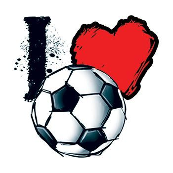 "Soccer Lovers ""I Heart Soccer"" Design Water Transfer Temporary Tattoo(fake Tattoo) Stickers NO.15167"