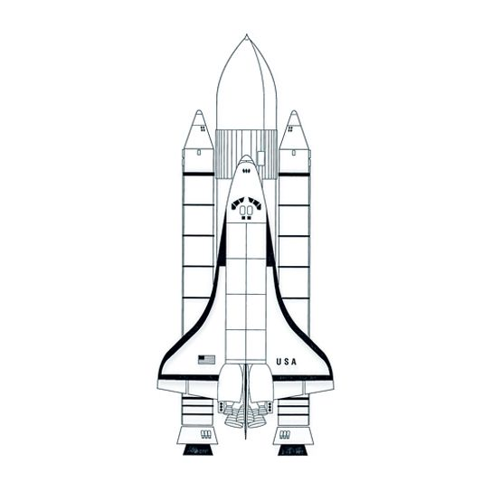NASA Space Shuttle Sleeve Design Water Transfer Temporary Tattoo(fake Tattoo) Stickers NO.14453