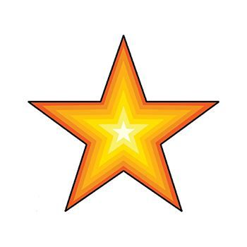 Star Design Water Transfer Temporary Tattoo(fake Tattoo) Stickers NO.13888