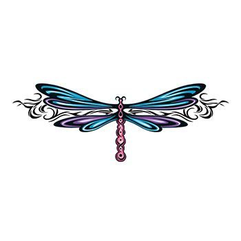 Stylish Dragonfly Design Water Transfer Temporary Tattoo(fake Tattoo) Stickers NO.13657