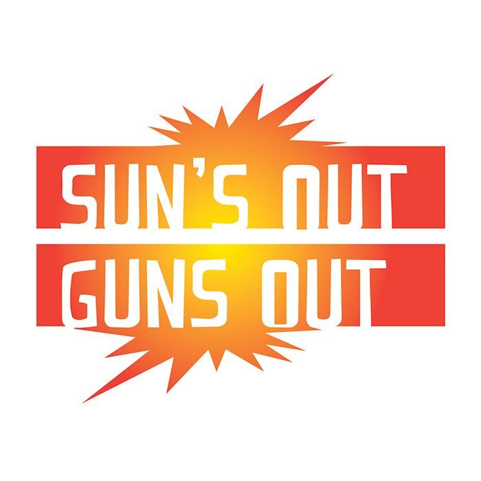 Suns Out Guns Out Design Water Transfer Temporary Tattoo(fake Tattoo) Stickers NO.14269