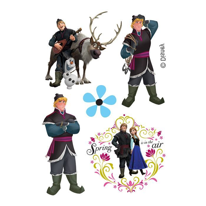 Frozen Sven and Cristoph Assortment Design Water Transfer Temporary Tattoo(fake Tattoo) Stickers NO.14125