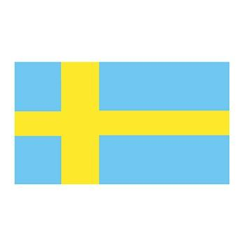 Sweden Flag Design Water Transfer Temporary Tattoo(fake Tattoo) Stickers NO.12788