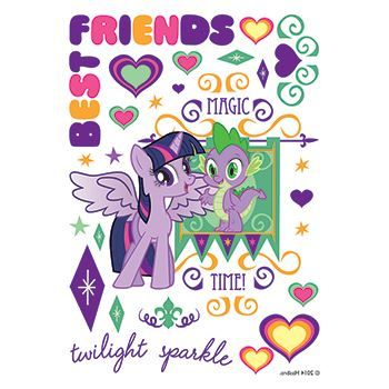 Terrific Twilight Sparkle Design Water Transfer Temporary Tattoo(fake Tattoo) Stickers NO.14065