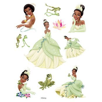 The Princess and the Frog Assortment ofs Design Water Transfer Temporary Tattoo(fake Tattoo) Stickers NO.14132