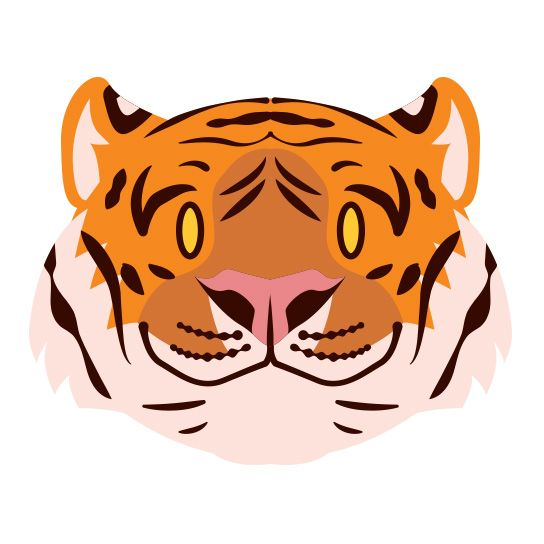 Tiger Face Design Water Transfer Temporary Tattoo(fake Tattoo) Stickers NO.13501