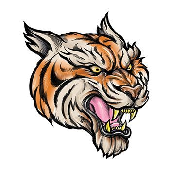 Tiger Design Water Transfer Temporary Tattoo(fake Tattoo) Stickers NO.13680