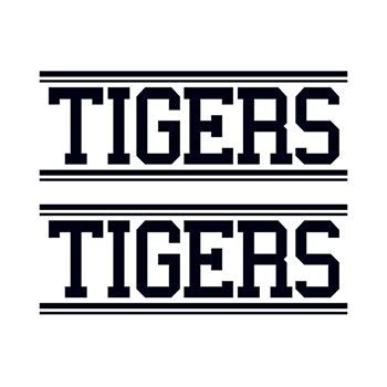 Tigers Text Design Water Transfer Temporary Tattoo(fake Tattoo) Stickers NO.15016