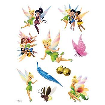 Tinker Bell Assortment ofs Design Water Transfer Temporary Tattoo(fake Tattoo) Stickers NO.14123